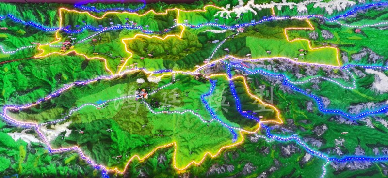 20200906迪庆州气象局地形地貌沙盘09
